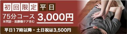 初回限定75分コース3000円